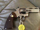 """COLT PYTHON 357 MAGNUM, 4"""" BRIGHT NICKEL, MFG. 1977, NEW UNFIRED UNTURNED IN THE BOX - 3 of 7"""