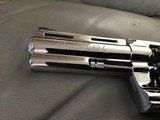 """COLT PYTHON 357 MAGNUM, 4"""" BRIGHT NICKEL, MFG. 1977, NEW UNFIRED UNTURNED IN THE BOX - 5 of 7"""