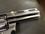 """COLT PYTHON 357 MAGNUM, 4"""" BRIGHT NICKEL, MFG. 1977, NEW UNFIRED UNTURNED IN THE BOX - 6 of 7"""