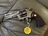 """COLT PYTHON 357 MAGNUM, 4"""" BRIGHT NICKEL, MFG. 1977, NEW UNFIRED UNTURNED IN THE BOX - 2 of 7"""