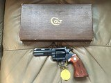 "COLT DIAMONDBACK 22 LR. 4"" BLUE MFG. 1969, NEW UNFIRED, UNTURNED, IN FACTORY COSMOLINE, IN THE BOX"