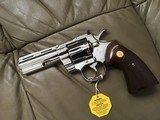"""COLT PYTHON 357 MAGNUM, 4"""" BRIGHT NICKEL, MFG. 1980, NEW UNFIRED, UNTURNED 100% COND. IN THE BOX - 3 of 4"""
