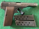 BROWNING FN, 1922, 32 AUTO, HOLSTER SN. MATCHES GUN SN., SOLID MECHANICAL COND. WITH THINNING BLUE, COMES WITH 2 MAG'S
