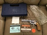 """COLT PYTHON 357 MAGNUM, 6"""" BRIGHT STAINLESS ELITE, NEW UNFIRED, UNTURNED, 100% COND. IN THE BOX"""