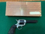 "COLT FRONTIER SCOUT 22 LR. 4 3/4"" DUOTONE FINISH, EXC.COND. IN THE BOX"