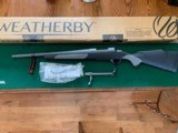 """WEATHERBY WEATHERGUARD, 223 REM. H-BAR, 20"""" THREADED BARREL, NEW IN THE BOX - 1 of 6"""