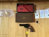 """COLT PYTHON 357 MAGNUM, 4"""" BLUE, MFG. 1966, LIKE NEW, NO TURN LINE, IN THE BOX"""