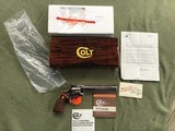 """COLT PYTHON 357 MAGNUM WITH EXTREMELY RARE 8"""" BARREL IN BRIGHT NICKEL, MFG. 1981, APPEARS UNFIRED AFTER LEAVING THE FACTOR,100% COND. IN THE BOX"""
