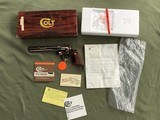"""COLT PYTHON 38 SPC. 8"""" TARGET, FACTORY NICKEL, APPEARS UNFIRED SINCE LEAVING THE FACTORY IN 1981, 100% COND. IN THE BOX"""