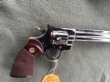 """COLT PYTHON 38 SPC. 8"""" TARGET, FACTORY NICKEL, APPEARS UNFIRED SINCE LEAVING THE FACTORY IN 1981, 100% COND. IN THE BOX - 5 of 6"""