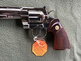 """COLT PYTHON 38 SPC. 8"""" TARGET, FACTORY NICKEL, APPEARS UNFIRED SINCE LEAVING THE FACTORY IN 1981, 100% COND. IN THE BOX - 4 of 6"""