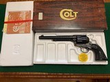 """COLT SINGLE ACTION 357 MAGNUM, 7 1/2"""" BARREL, CASE COLOR,NEW UNFIRED IN THE BOX"""