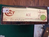 "COLT ACE 22 LR. 5"" BARREL, MFG. 1979, NEW UNFIRED, 100% COND. IN THE BOX WITH OWNERS MANUAL, HANG TAG, ETC. - 4 of 4"