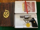"COLT LAWMAN MKIII 357 MAGNUM, 2"" BARREL, RARE ELECTROLESS NICKEL FINISH, LIKE NEW IN THE BOX"
