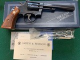 """SMITH & WESSON 17-4, 22 LR. 6"""" BLUE, NEW UNFIRED 100% COND. IN THE BOX WITH OWNERS MANUAL, CLEANING KIT, ETC. - 1 of 8"""