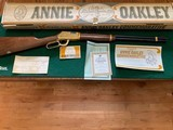 """WINCHESTER 9422, 22 LR. """"ANNIE OKLEY"""" MISS LITTLE SURE SHOT, NEW UNFIRED IN THE BOX WITH OWNERS MANUAL, ETC. - 1 of 6"""