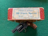 SMITH & WESSON PRE 36, 38 SPC., FLAT LATCH, MFG. 1952, 95% COND. IN THE RARE S&W RED BOX - 7 of 7