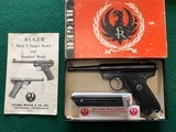 """RUGERSTANDARD 22LR. 4 1/2"""" BARREL, MFG. 1965, 95% COND., COMES WITH 2 MAG'S AND OWNERS MANUAL IN RUGER RED BOX - 1 of 6"""