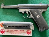 """RUGERSTANDARD 22LR. 4 1/2"""" BARREL, MFG. 1965, 95% COND., COMES WITH 2 MAG'S AND OWNERS MANUAL IN RUGER RED BOX - 5 of 6"""