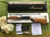 """BROWNING BELGIUM SWEET-16, """"BIG GAME""""MFG.1966 ROUND KNOB, WITH 24"""" BUCK BARREL, NEW UNFIRED IN THE BOX WITH OWNERS MANUAL IN BLACKENVELOPE"""