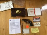 """COLT PYTHON 357 MAGNUM, 2 1/2"""" BRIGHT STAINLESS,NEW UNFIRED, UNTURNED, 100% COND. IN THE ORIGINAL BOX"""
