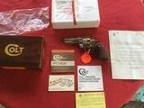 "COLT PYTHON 357 MAGNUM, 4"" BRIGHT NICKEL, MFG. 1982, NEW UNFIRED, UNTURNED, 100% COND. IN THE ORIGINAL BOX"