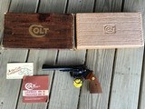 """COLT TROOPER MARK III, 357 MAGNUM, 6"""" BLUE, EXCELLENT CONDITION IN THE BOX"""