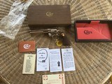 """COLT PYTHON 357 MAGNUM, 6"""" BRIGHT NICKEL, MFG. 1971, NEW UNFIRED, UNTURNED, 100% COND. IN THE BOX"""