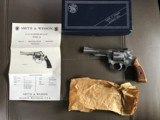 "SMITH & WESSON, 63 NO DASH, 22/32 KIT GUN, 4"" STAINLESS, 22 LR. LIKE NEW IN BOX WITH OWNERS MANUAL & OIL PAPER - 1 of 6"