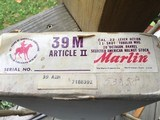 "MARLIN 39M MOUNTIE, ARTICLE Il, 22LR. 20"" BARREL, ""COMMEMORATING 100 YRS. OF THE RIGHT TO BEAR ARMS"", NEW UNFIRED IN THE BOX - 10 of 10"