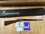 "BROWNING BELGIUM ""TROMBONE"" GRADE 2, NEW UNFIRED, 100% COND. IN THE BOX, SUPER RARE GUN"
