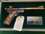 """RUGER MARK ll, GOV. MODEL, 22 LR. """"AMERICAN HISTORICAL FOUNDATION"""" HONORING THE US. AIR FORCE, ARMED FORCES, #37 OF 250 MFG. NEW UNFIRED"""