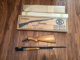 BROWNING TROMBONE 22 LR. MFG. IN BELGIUM NEW UNFIRED, NEVER BEEN ASSEMBELED 100% COND. NEW IN THE BOX