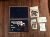 """SMITH & WESSON 57 NO DASH, 41 MAGNUM, 4"""" NICKEL, AS NEW IN PRESENTATION BOX WITH CLEANING TOOLS TOOLS AND PAPERS"""