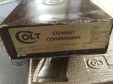 COLT SERIES 70, COMBAT COMMANDER, 38 SUPER CAL.IN RARE SATIN NICKEL. APPEARS UNFIRED IN THE BOX WITH PAPER WORK - 4 of 4