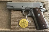 COLT SERIES 70, COMBAT COMMANDER, 38 SUPER CAL.IN RARE SATIN NICKEL. APPEARS UNFIRED IN THE BOX WITH PAPER WORK - 3 of 4