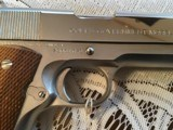 COLT SERIES 70 GOVERNMENT, 45 ACP., BRIGHT NICKEL, APPEARS UNFIRED IN THE BOX WITH OWNERS MANUAL ETC. - 3 of 5