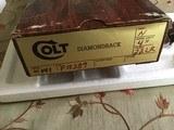 "COLT DIAMONDBACK 22 LR., 4"" BRIGHT NICKEL, NEW UNFIRED, UNTURDED, 100% COND. IN THE BOX - 6 of 6"