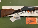 HENRY LONG RANGE, LEVER ACTION, 223 CAL. NEW UNFIRED IN THE BOX - 3 of 5