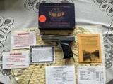 LORCIN L-380 CHROME, 380 CAL., 7 SHOT, AS NEW IN THE BOX