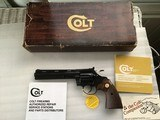 """COLT DIAMONDBACK 22 LR. 6"""" BLUE, MFG. 1981, NEW UNFIRED, NO TURN RING, 100% COND. IN THE BOX WITH OWNERS MANUAL, HANG TAG, ETC."""