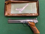 """COLT WOODSMAN MATCH TARGET 22 LR., 6"""" BARREL 99% COND. MFG. 1964, IN THE BOX WITH OWNERS MANUAL, ETC."""