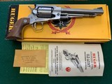 "RUGER OLD ARMY 44 CAL. 7 1/2"" STAINLESS, BLACK POWDER, NEW UNFIRED IN THE BOX WITH OWNERS MANUAL"