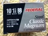 "FEDERAL 10 GA. 3 1/2"", 1 5/8 OZ. COPPER PLATED BB SHOT"