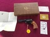 """COLT DIAMONDBACK 22 LR. 4"""" BLUE, MFG. 1969, NEW UNFIRED IN THE BOX, WITH OWNERS MANUAL, HANG TAG, COLT LETTER, ETC."""