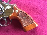 """SMITH & WESSON 29, 44 MAGNUM, 6 1/2"""" BRIGHT NICKEL, EXC. COND. NO CYLINDER TURN RING, IN SMITH & WESSON WOOD PRESENTATION CASE - 7 of 9"""