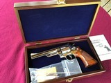 """SMITH & WESSON 29, 44 MAGNUM, 6 1/2"""" BRIGHT NICKEL, EXC. COND. NO CYLINDER TURN RING, IN SMITH & WESSON WOOD PRESENTATION CASE"""