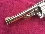 """SMITH & WESSON 29, 44 MAGNUM, 6 1/2"""" BRIGHT NICKEL, EXC. COND. NO CYLINDER TURN RING, IN SMITH & WESSON WOOD PRESENTATION CASE - 4 of 9"""