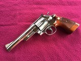 """SMITH & WESSON 29, 44 MAGNUM, 6 1/2"""" BRIGHT NICKEL, EXC. COND. NO CYLINDER TURN RING, IN SMITH & WESSON WOOD PRESENTATION CASE - 3 of 9"""