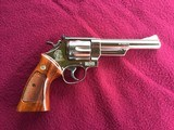 """SMITH & WESSON 29, 44 MAGNUM, 6 1/2"""" BRIGHT NICKEL, EXC. COND. NO CYLINDER TURN RING, IN SMITH & WESSON WOOD PRESENTATION CASE - 2 of 9"""